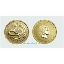 Australia - Gold coin BU 1/4 oz, Year of the Snake, 2013