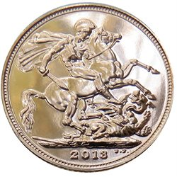 Great Britain - Elizabeth II, Gold Sovereign BU, 2013