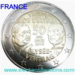 Frankreich 2 Euro 50 Jahre élysée Vertrag 2013