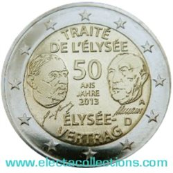Germany - 2 Euro, 50th anniversary of the Elysee Treaty, 2013
