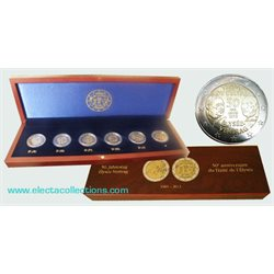 Complete collection - 6 x 2 Euro, Elysee Treaty, 2013