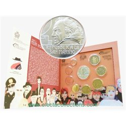 San Marino - Official BU Set 2013 + 5 Euro Silver Fellini