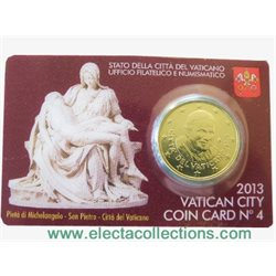 Vatican - 50 Cent, PIETA, COIN CARD - N. 4 YEAR 2013