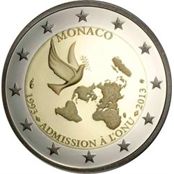 Monaco - 2 Euro UNC, 20 years membership of the United Nations, 2013