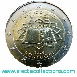 Portugal – 2 Euro Treaty of Rome, 2007