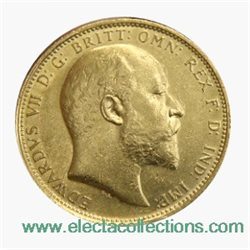 Great Britain - Edward VII, Gold Sovereign XF, 1906 - London