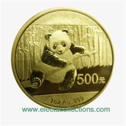 China - Gold coin BU 1 oz, Panda, 2014 (sealed)