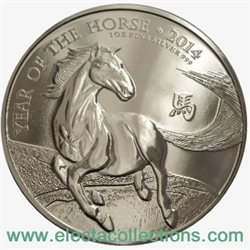 Regno Unito - £2 Year of the Horse One Ounce Silver, 2014