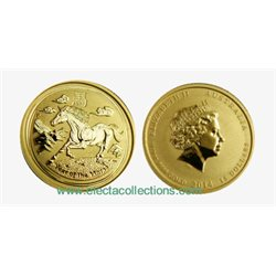 Australia - Gold coin BU 1/10 oz, Year of the Horse, 2014