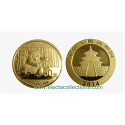 Chine - Gold coin BU 1/10 oz, Panda, 2014