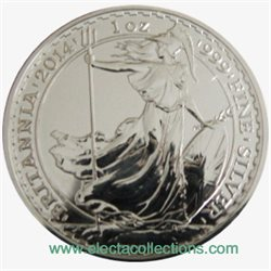 Great Britain - £2 Britannia One Ounce Silver Bullion, 2014