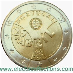 Portugal – 2 Euro, the Carnation Revolution, 2014