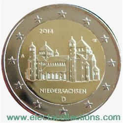 Germany – 2 Euro, St. Michael, Lower Saxony, 2014