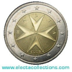 Malta - 2 Euro, Maltese Cross, 2008