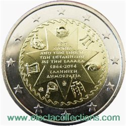 Greece – 2 Euro UNC, Union of Ionian Islands with Greece, 2014