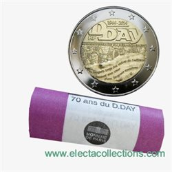 France - 2 Euro, D-Day, 2014 (rolls 25 coins)