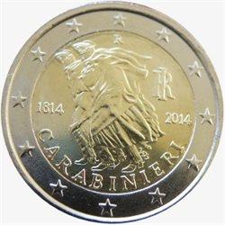 Italien 2 Euro 200 Jahrestag Der Carabinieri 2014