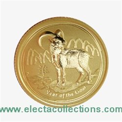 Australia - Gold coin BU 1/10 oz, Year of the Goat, 2015