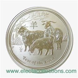 Australia - Silver coin BU 1/2 oz, Year of the Goat, 2015