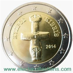 Cyprus - 2 Euro, cross-shaped Idol, 2014