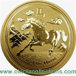 Australie - piece d'or 1/2 oz, Annee du Cheval 2014