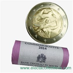 Malte - 2 Euro, Independance, 2014 (roll 25 coins)