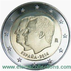 Spanien 2 Euro Proklamation Von König Felipe Vi 2014