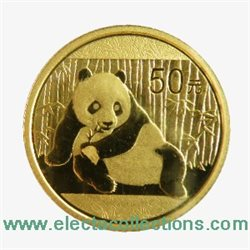Chine - Gold coin BU 1/10 oz, Panda, 2015
