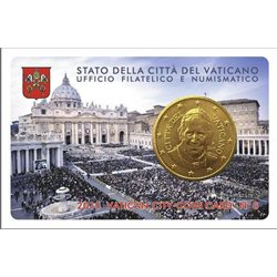 Vatican - 50 Cent, COIN CARD - N. 6 YEAR 2015