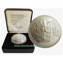 Grecia - 10 Euro de Plata Proof, ARISTOPHANES, 2015