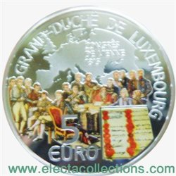 Luxemburg - 5 Euro silver proof, Congress of Vienna, 2015