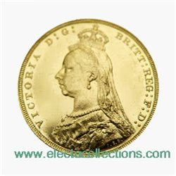 Great Britain - Victoria, Gold Sovereign XF, 1890 - London
