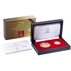 Autriche - Two coins set proof, Vienna Philharmonic 2014