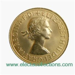 Great Britain - Elizabeth II, Gold Sovereign UNC, 1968