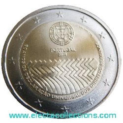 Portugal - 2 Euro, Human Rights, 2008