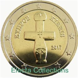 Cyprus - 2 Euro, cross-shaped Idol, 2017