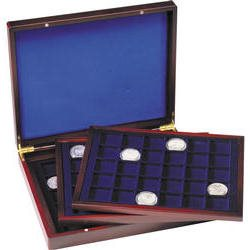 Presentation case - Three inlays, for 90 coins
