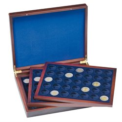 Presentation case - For 105 coins 2 Euro in capsules