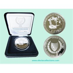 Cyprus - 5 Euro Silver PROOF,  accession to EMU, 2008