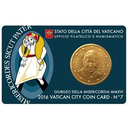 Vatican - 50 Cent, COIN CARD - N. 7 ANNEE 2016