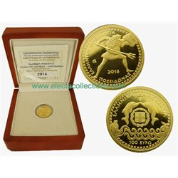Griechenland 100 Euro Mini Goldmunze Poseidon 2016