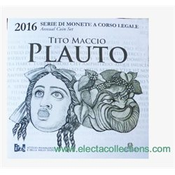 Italy - Official BU Set 2016 + 2 Euro PLAUTO