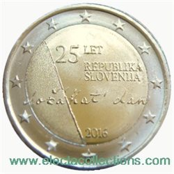 Slovenia – 2 Euro, 25th anniversary of independence, 2016