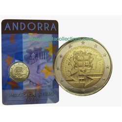 Andorra - 2 Euro, Customs Union, 2015 (coin card)