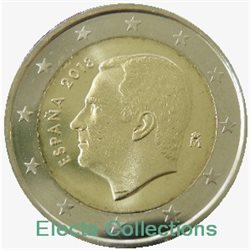 Spagna - 2 Euro, New King Felipe VI, 2018 (BU in capsule)