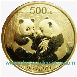 China - Gold coin BU 1 oz, Panda, 2009 (sealed)
