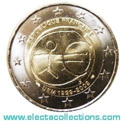 France – 2 Euro, 10th Anniversary of the Euro, 2009