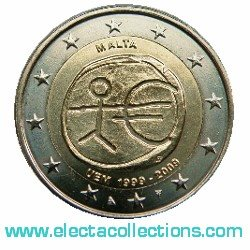 Malta – 2 Euro, 10th Anniversary of the Euro, 2009
