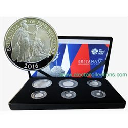 Royaume Uni - Britannia Six-Coin Silver Proof Set, 2016