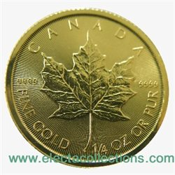 Canada - Gold coin BU 1/4 oz, Maple Leaf, 2016